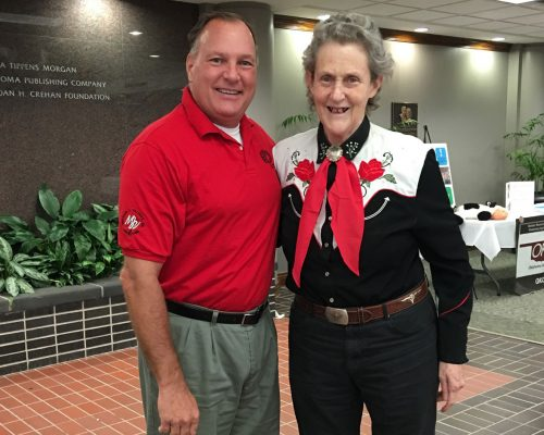 Dr Jim Ball Durand Consultant with Dr Temple Grandin in Oklahoma City, Oklahoma.